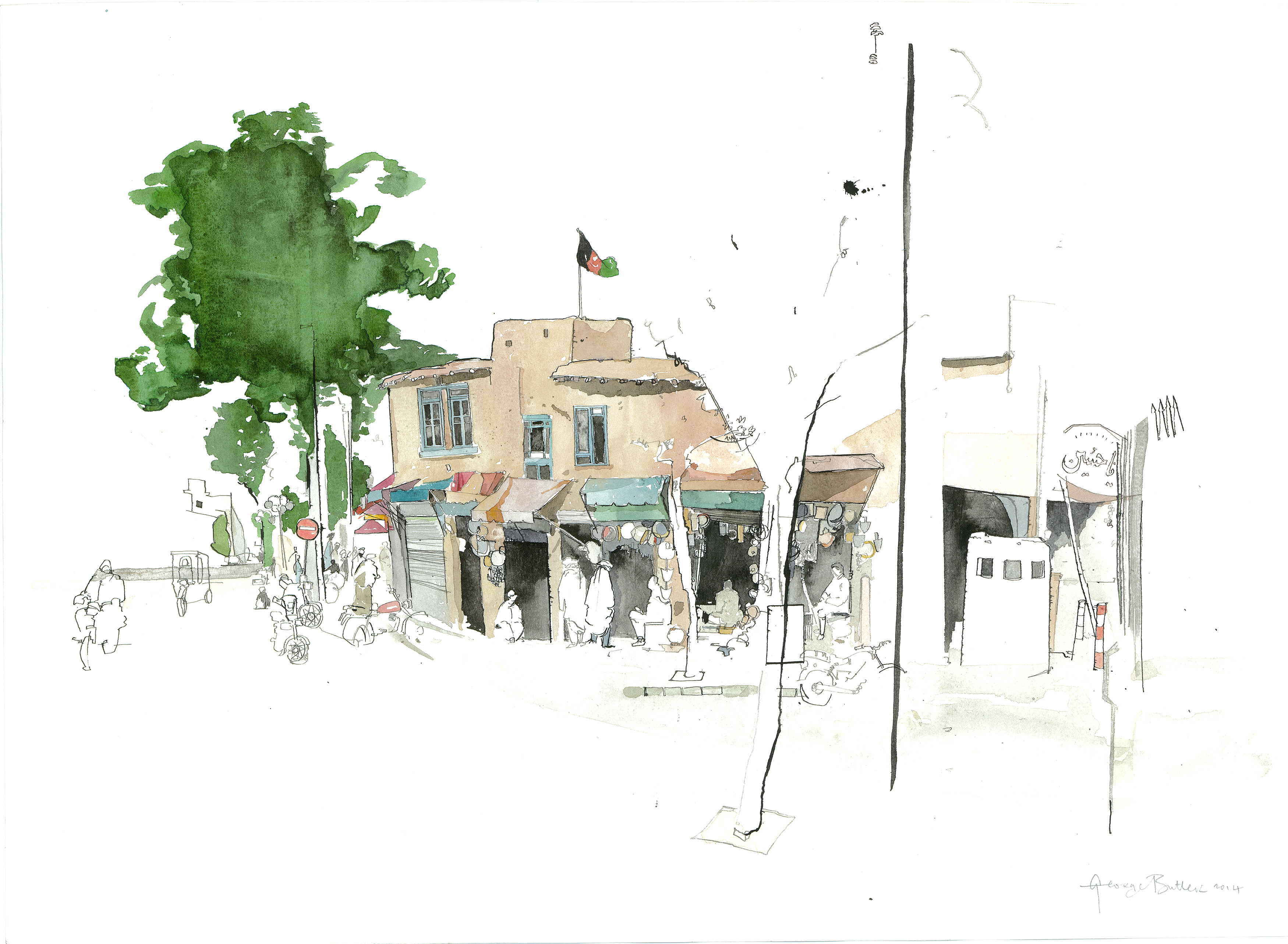 George Butler Illustrates Afghanistan Pulitzer Center