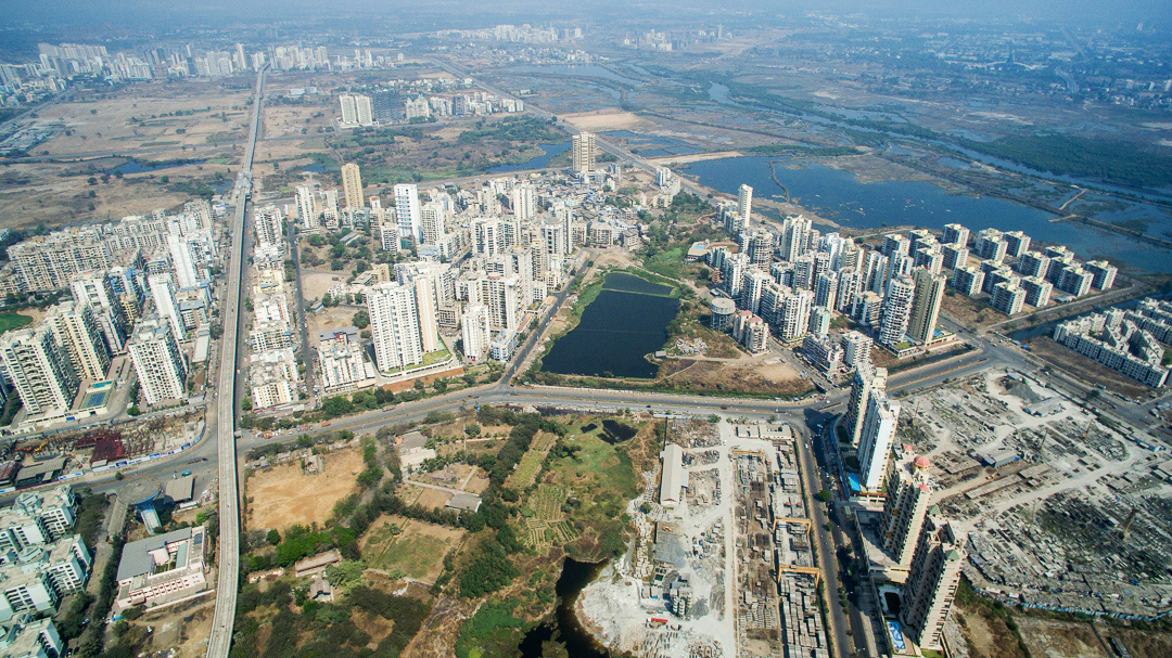 drones eye view  navi mumbais sprawl pulitzer center