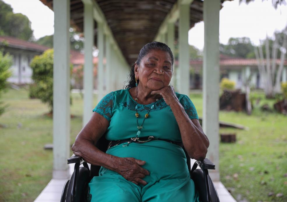 Maria da Silva Trindade is one of the most avid participants of a pilot program within the former colony that is helping residents pursue their education. Image by Anton L. Delgado. Brazil, 2020.