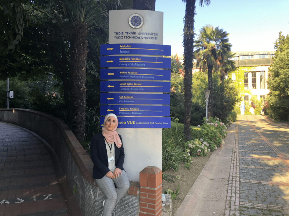 Shirin Alhroob at Yildiz Technical University. Image by Nageen Asif. Turkey, 2019.