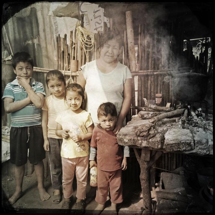 San Ramon: This family is among those who settled recently here from the Rio Squisal Valley, near the border with Mexico. Image by Lynn Johnson. Guatemala, 2017.
