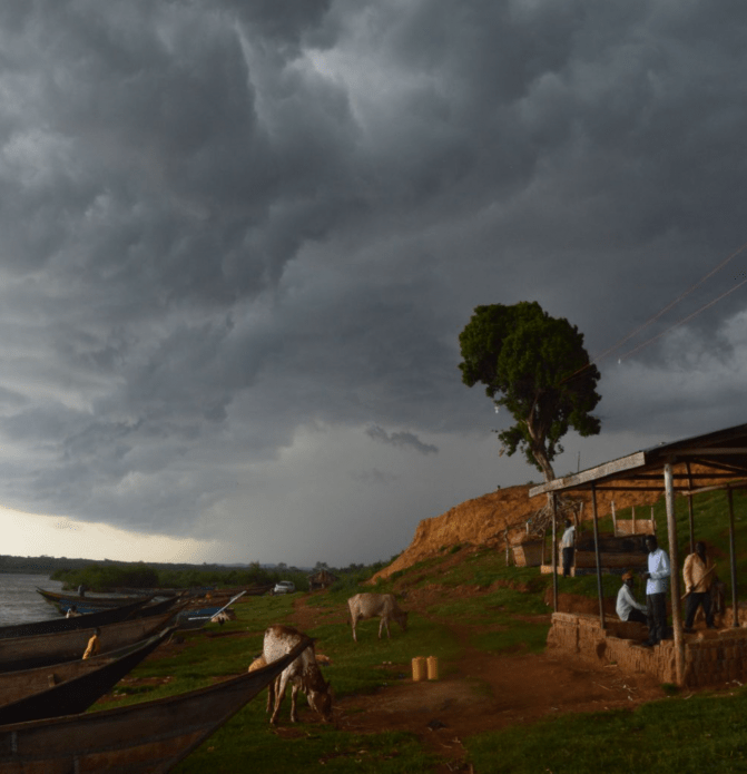 A storm approaches in Nakalanga village. Image by Annika McGinnis. Uganda, 2019.