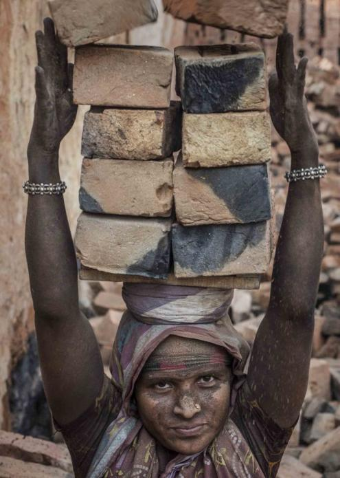 During seasonal operations, brick factories like the MEB facility can produce millions of bricks. The season usually begins in late fall or early winter. Image by Larry C. Price. Bangladesh, 2018.