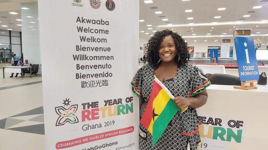 Annabelle McKenzie moved to Ghana from New York. Image by Ivy Prosper Ghana, 2020.