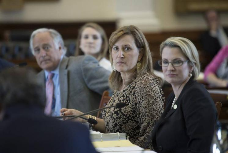 Republican state Sen. Konni Burton (center) was a key figure in 2017 efforts to reform civil asset forfeiture law in Texas. Image by Bob Daemmrich for The Texas Tribune. United States, 2017.