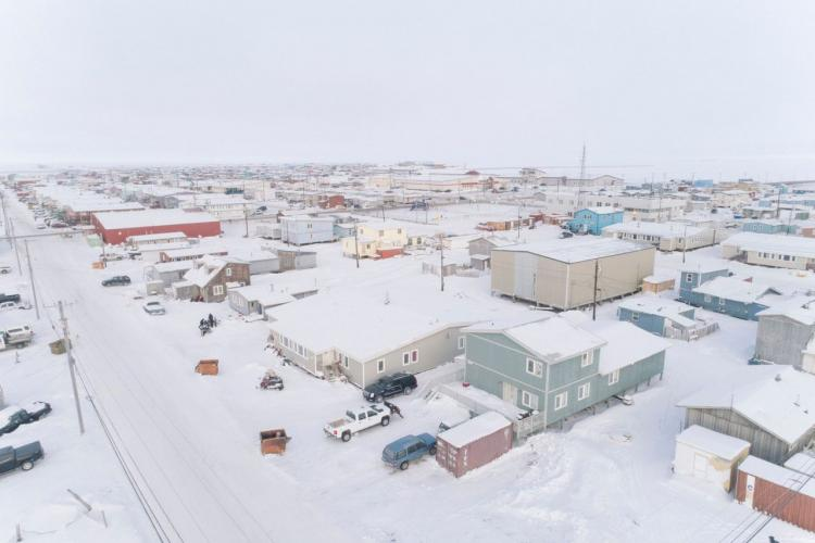 The village of Utqiagvik, where most of the 5,000 residents rely on hunting to support their way of life. Image by Kiliii Yuyan. United States, undated.