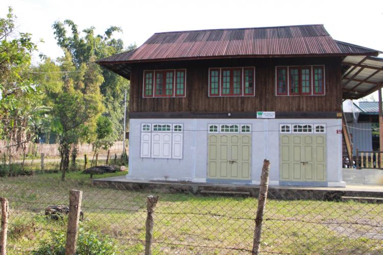 Boarded up WCS office in Puta-O. Image by Emily Fishbein. Myanmar, undated.