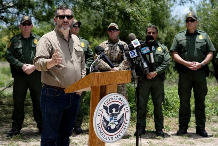 Sen. Ted Cruz spoke Monday during the annual Border Safety Initiative Conference near Mission. Image by Veronica G. Cardenas. United States, 2019.