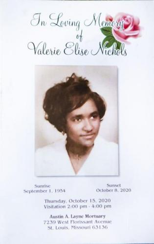"Charles Roberts keeps a program from Valerie Nichols's Oct. 15, 2020 funeral. Roberts was a close friend and co-worker of Nichols'. ""She was an angel,"" Roberts said. ""She was one of those kind of people that you don't meet often in life."" Image by Cheyenne Boone. United States, 2020."