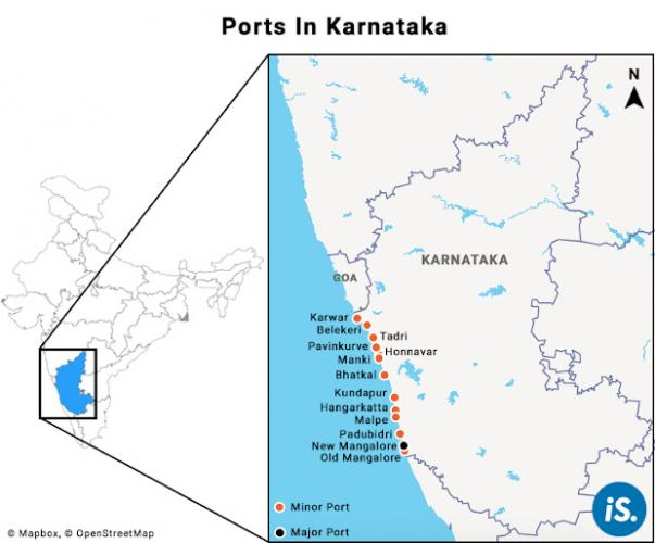 Source: Department of Ports & IWT of the Government of Karnataka. Map courtesy of IndiaSpend.