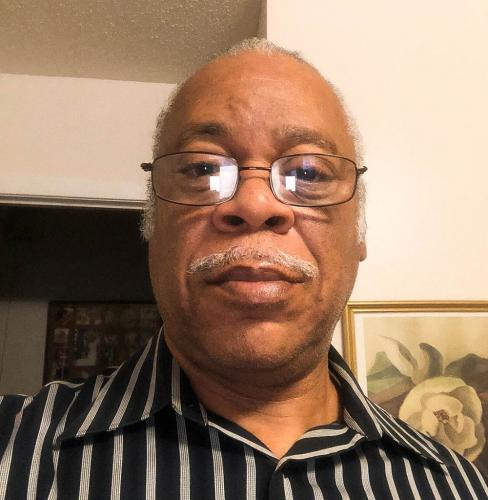 George Bacon, 63, shown in a selfie taken in 2019 at his mother's house in Greenville, Mississippi, before they both contracted COVID-19. After the hospital released his mother and she moved back home, Bacon needed to find shelter that wasn't too far away. Image by George Bacon. United States, 2019.