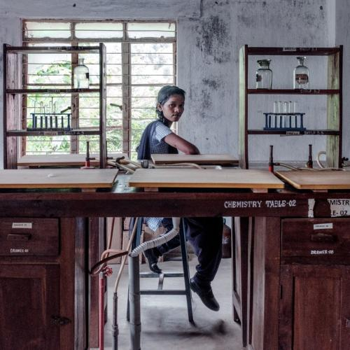 Purnima in the chemistry lab. Image by Arko Datto. India, 2018.