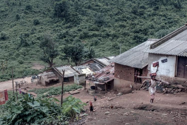 A Dongria village in the Niyamgiri hills. Image by Arko Datto. India, 2018.