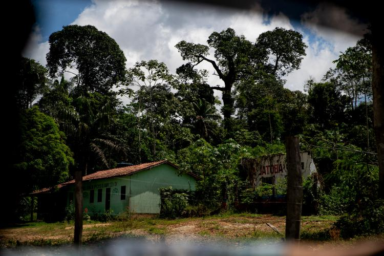 "An abandoned property that is being used by so-called ""invaders"" into the Virola Jatoba settlement in Anapu. Image by Spenser Heaps. Brazil, 2019."