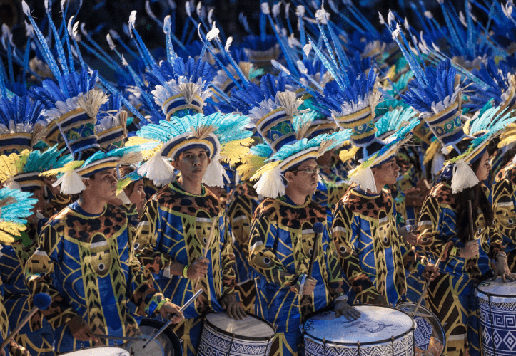 "The Folkloric Festival of Parintins, dubbed the ""greatest expression of Amazon culture,"" it attracted almost 100,000 tourists in 2018. Image courtesy of Wikimedia. Brazil, 2018."