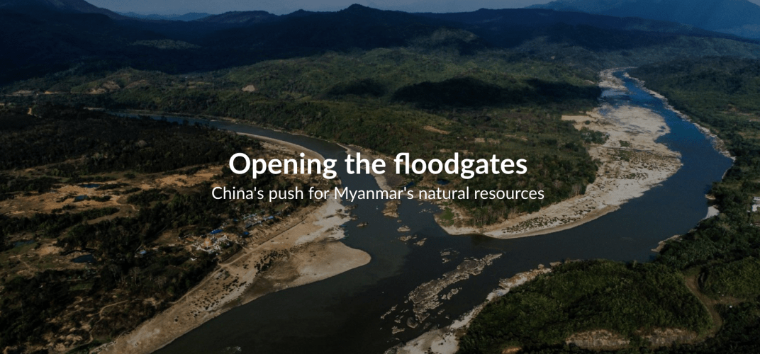 The confluence of the N'Mai and Mali rivers in Kachin State, Myanmar, where the Myitsone dam site is proposed to be. Image by Hkun Lat. Myanmar, 2019.